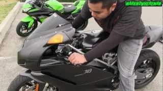 9. A Kawasaki NINJA ZX6R Sportbike Rider quick Review & Impression on a DUCATI Superbike