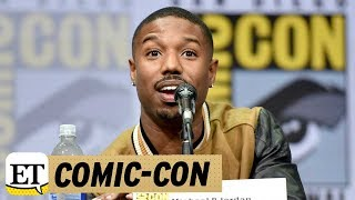 More from Entertainment Tonight: http://bit.ly/1xTQtvw  ET spoke with the 'Black Panther' star during San Diego Comic-Con on Saturday.