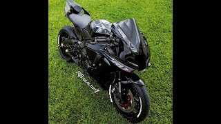 6. 2018 yamaha r1 Raven, mods- driven gas cap, levers, tire letters, quick vid before exhaust gets here