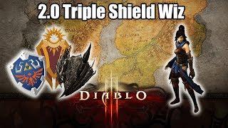 Diablo 3 Triple Shield Wizard Build, 40k+ HP Shields!