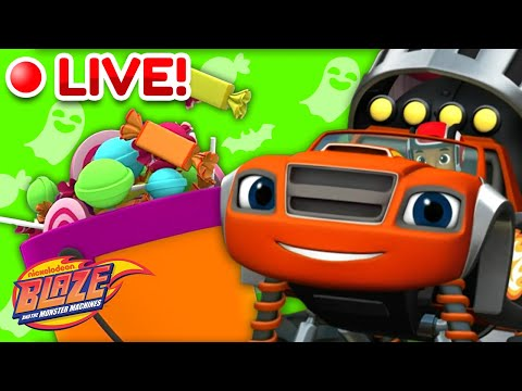 🔴LIVE: Happy Halloween 🎃! | Blaze and the Monster Machines