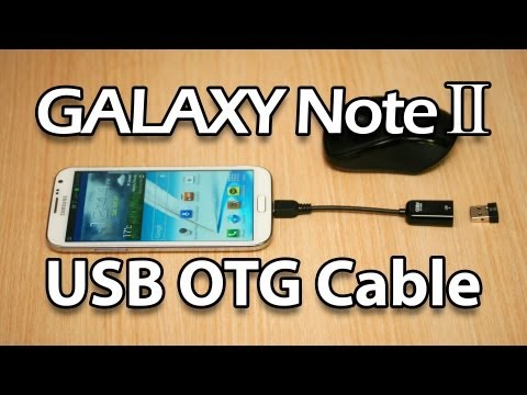 USB OTG on Samsung Galaxy Note 2 (Wireless Keybard Mouse, External Storage Drive)