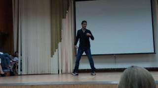 Saransk Russia  City new picture : Indian dancer Rohit in Mordovia state university Saransk Russia