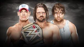 WWE ''No Mercy'' 2016 - John Cena vs AJ Styles vs Dean Ambrose