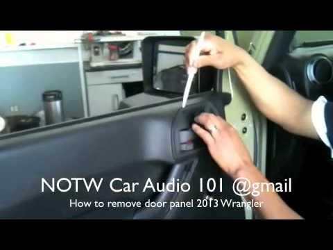 how to remove 2013 Jeep Wrangler door panel