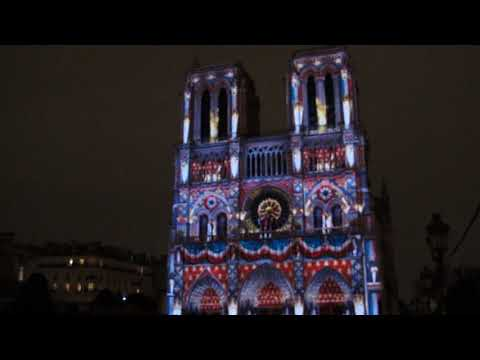 Notre Dame Cathedral, Sound and Light show in Paris