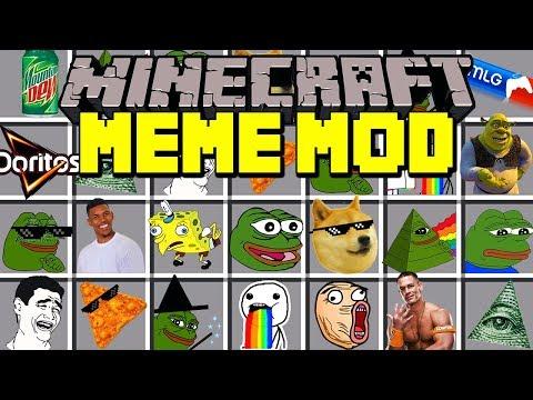 Minecraft MEMES MOD! | SPONGEBOB, PEPE BOY, SHREK, MLG, DOGE, & MORE! | Modded Mini-Game