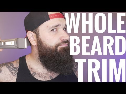 How To Trim Your Whole Beard | Tutorial
