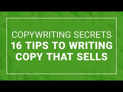 Copywriting Secrets  16 tips to Writing Copy that Sells!