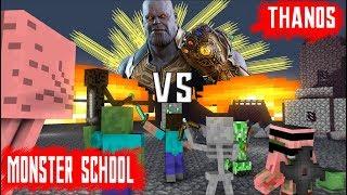 Video MONSTER SCHOOL VS THANOS AVENGERS : END GAME - Minecraft Animation MP3, 3GP, MP4, WEBM, AVI, FLV Juli 2019