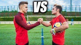 DENIS SUÁREZ VS DELANTERO09 - Retos de Fútbol