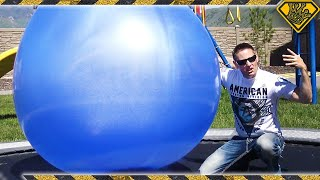 Filling Giant 6 FT BALLOONS with Liquid Nitrogen!