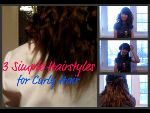3 Cute Hairstyles for Wavy/Curly Hair