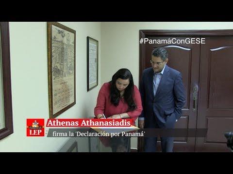 Diputada Athenas Athanasiadis firmala 'Declaración por Panamá'