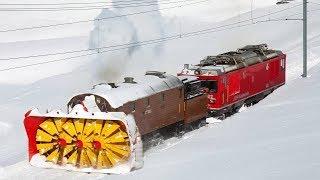 Video Awesome Powerful Snow Plow Train Blower Through Deep Snow railway tracks Full HD Compilation MP3, 3GP, MP4, WEBM, AVI, FLV Januari 2019