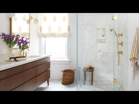 Interior Design – A Bright Bathroom Oasis With A Boho Vibe