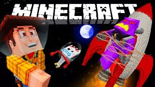 MINECRAFT TOY STORY | FORKY AND WOODY IN SPACE | MINECRAFT XBOX