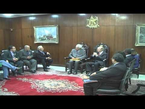 Presidente Sarney recebe Prefeito de Grajaú - MA