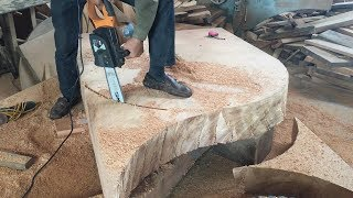 Video WoodWorking Projects You MUST See // How To Make Extremely Large Round Table With Hardwood MP3, 3GP, MP4, WEBM, AVI, FLV September 2019