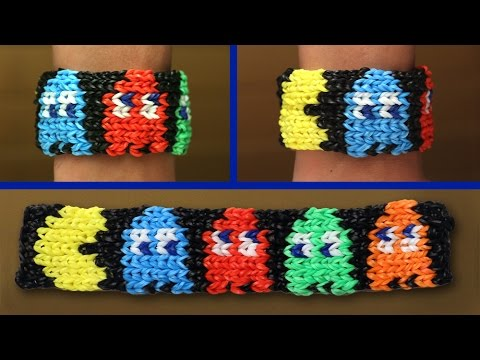 Rainbow Loom Nederlands – Pacman Armband || Loom bands, rainbow loom, tutorial, how to