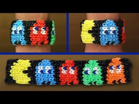 Rainbow Loom Nederlands – Pacman Armband || Loom bands, rainbow loom, tutorial, how to
