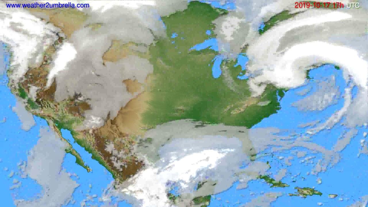 Cloud forecast USA & Canada // modelrun: 00h UTC 2019-10-16