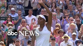 Williams is now eyeing a sixth Wimbledon singles title while 29-year-old U.S. player Sam Querrey defeated British champ Andy Murray to advance to men's semifinals.