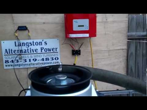 Micro Hydro Generator with Grid Inverter