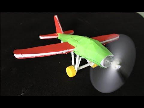 Как из одного моторчика сделать самолетик
