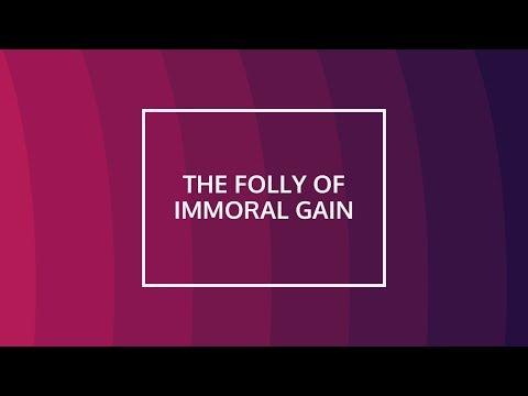 "The Folly of Immoral Gain - Pastor Carmelo ""Mel"" B. Caparros II"