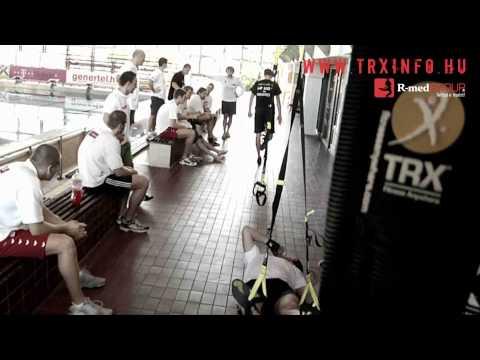 TRX edzés a T-Mobile-Honvéd férfi vízilabda csapatnál