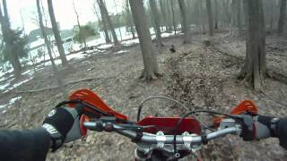 7. Backyard practice on a 2006 KTM 250 XC