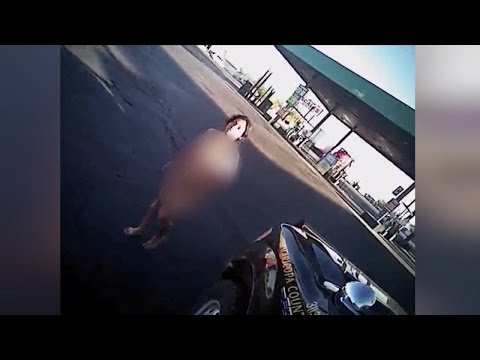 Dash Cam Video Shows Naked Woman Stealing Police Car: Cops