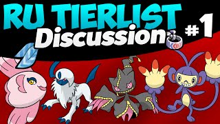 All RU Pokemon Smogon Tier List Discussion w/ PokeaimMD & EonX [Part 1] by PokeaimMD