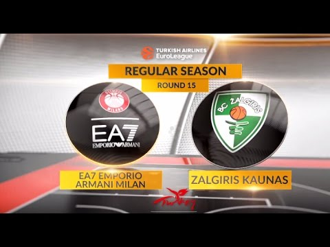 EuroLeague Highlights RS Round 15: EA7 Emporio Armani Milan 70-78 Zalgiris Kaunas
