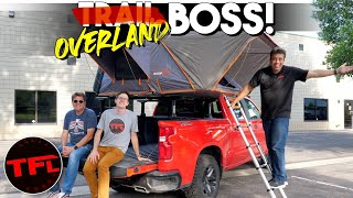 How to Turn a Chevy Silverado Trail Boss Into the Overland Boss with a Rack and a Tent! by The Fast Lane Truck