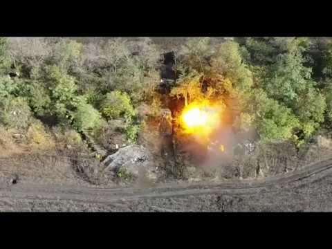 Точная работа корректировщика артиллерийского огня ВСН ДНР