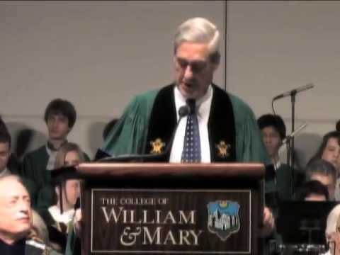 W&M commencement 2013: Mueller's keynote speech