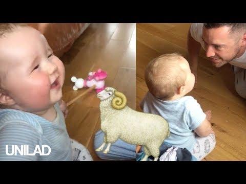 Tämän lapsen nauruääni kuulostaa aivan lampaalta – Kuuntele!