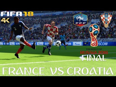 FIFA 18 (PC) (PC) France V Croatia | 2018 FIFA WORLD CUP RUSSIA | FINAL | 15/7/2018 | 4K