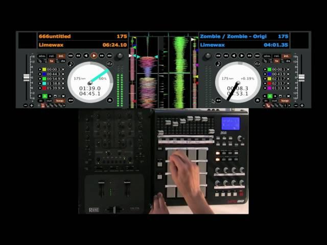 Serato scratch live Loops, pitch and cue - MIDI Controller demo