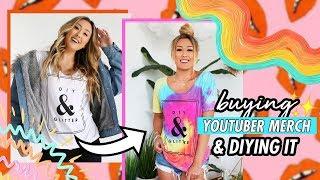 Buying YouTuber Merch & DIYing It #5! by LaurDIY