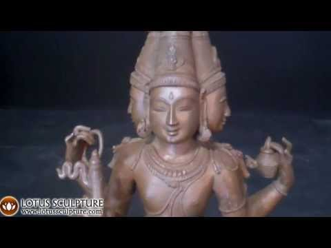 SOLD Bronze Brahma the Creator Statue 15
