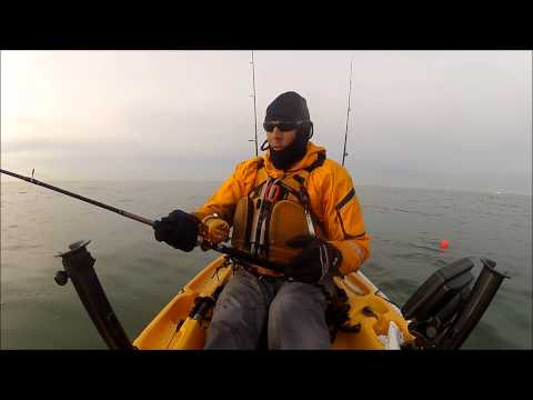 A Big Chesapeake Bay Striper From A Kayak – Dec 2012