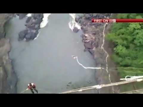 高空彈跳繩索斷 女子墜落鱷魚河