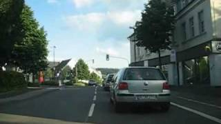 Olpe Germany  city pictures gallery : Driving in Olpe, Germany (North-South)