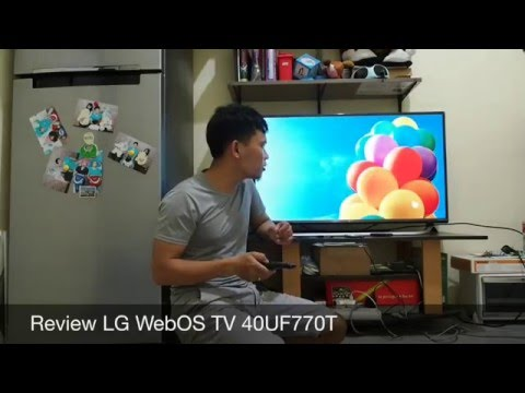 Review LG WebOS TV 40UF770T Part 1