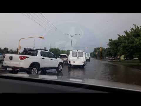 Intensas lluvias en Merlo