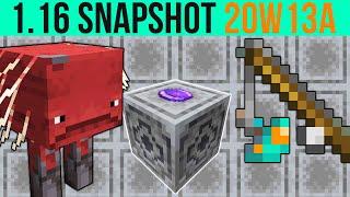 Minecraft 1.16 Snapshot 20w13a The Strider! Lodestone Compass & Basalt Generator!