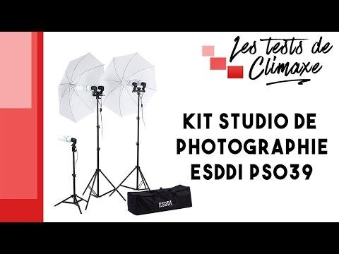 Test d'un ensemble d'accessoires ESDDI PS039 pour studio de photographies